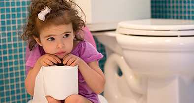 Young girl with Urinary Tract Infections (UTIs)