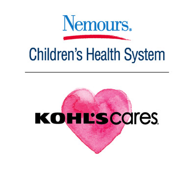 Nemours Children's Health System and Kohl's Cares logos