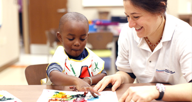 Nemours pediatric occupational therapy expert with child.