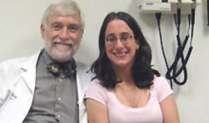 Melissa, a Nemours patient with cerebral palsy and Dr. Freeman Miller, a Nemours orthopedist