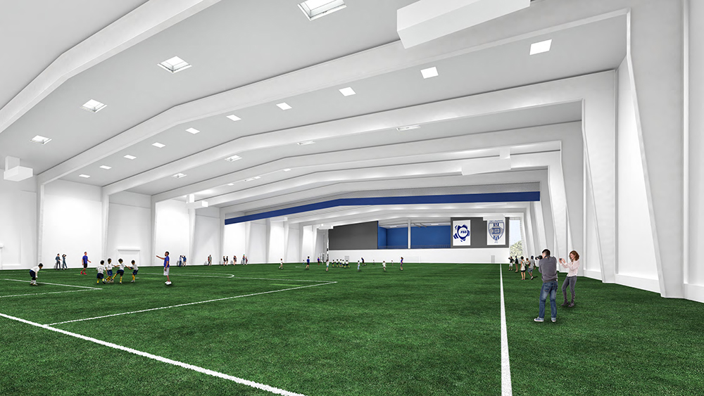 Interior of the new Nemours Sports Medicine at the 76ers Fieldhouse building.