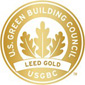 Building Certified LEED Gold by U.S. Green Building Council