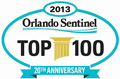 Logo for Orlando Sentinel's Top 100 Companies for Working Families