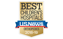 US News & World Report Best Children's Hospital for Orthopedics 2018-19