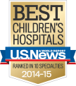 Nemours/Alfred I. duPont Hospital for Children was ranked in 10 specialties by U.S. News & World Report's 2014-2015 edition of Best Children's Hospitals.
