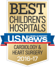 U.S. News & World Report logo for Best Children's Hospitals 2014-2015.