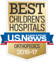 U.S. News & World Report Best Children's Hospitals: Orthopedics