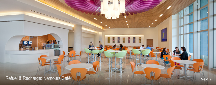 Refuel & Recharge at Nemours Café
