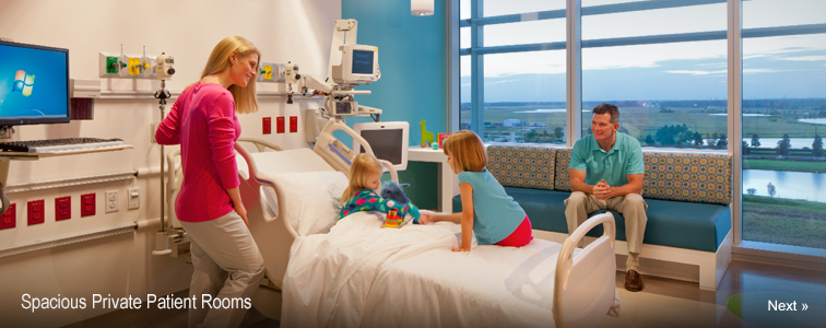 Spacious Private Patient Rooms