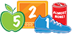Logo of Nemours 5-2-1 Almost None program that helps teach healthy eating habits to children