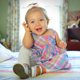 Cochlear implants in children allow the deaf to hear.