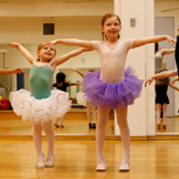 A pediatric rheumatology patient practices ballet.