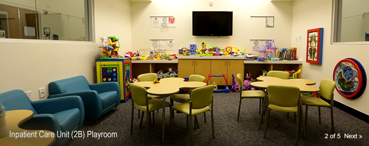 Nemours Cardiac Center Inpatient Care Unit (2B) Playroom