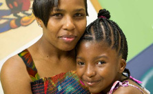 mother and daughter at the Cerebral Palsy Center