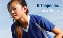Asian girl with pediatric orthopedic problem plays soccer