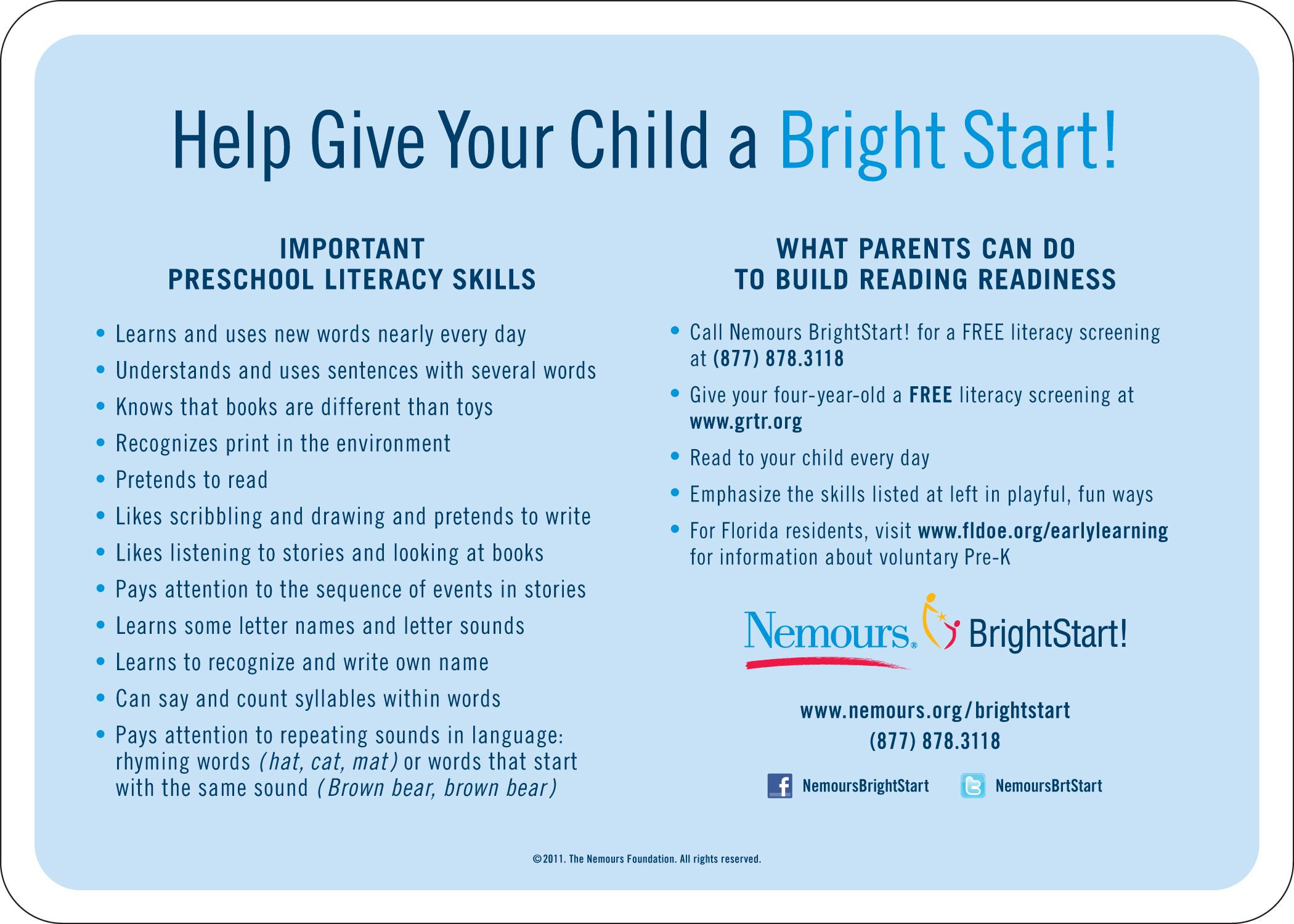 Tools & Services for Health Pros - Reading Readiness | Nemours